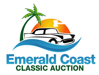 Emerald Coast Classic Auction logo design