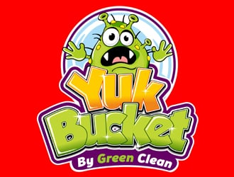 Yuk Bucket By Green Clean logo design