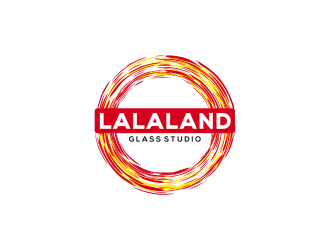 Lalaland Glass Studio logo design
