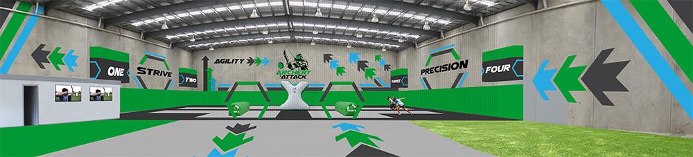 Archery Attack logo design