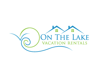 On The Lake vacation rentals logo design