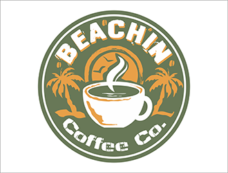 Beachin' Coffee Co. logo design