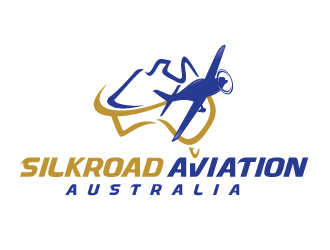 "Silkroad Aviation   with ""Australia"" under it logo design"