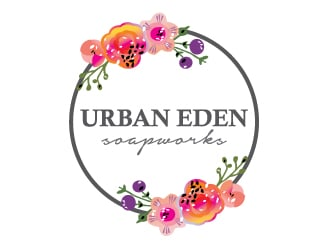 Urban Eden Soapworks logo design