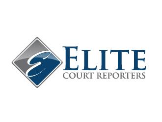 Elite Court Reporters logo design