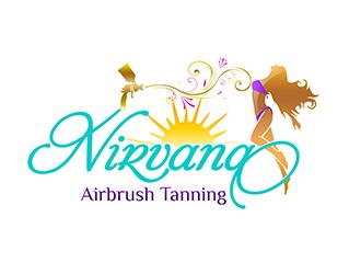 Nirvana Airbrush Tanning logo design
