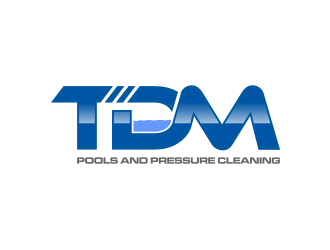TDM Pools and Pressure Cleaning logo design