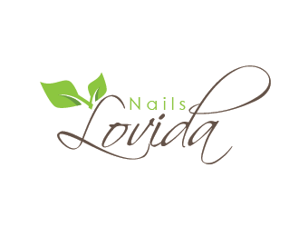 Nails Lovida logo design