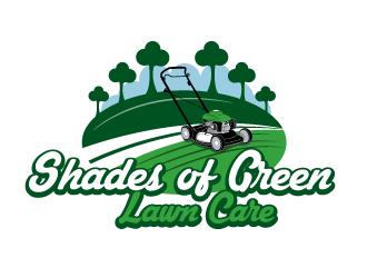 lawn mower logo. $110 shades of green lawn care logo design mower l