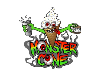 Monster Cone logo design