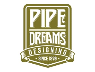 pipe dreams. designing dreams since 1970 logo design