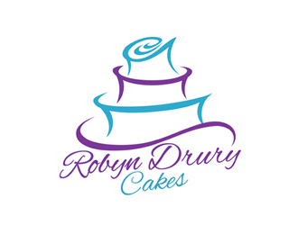 Robyn Drury Cakes logo design
