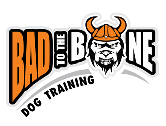 Bad To The Bone Dog Training logo design