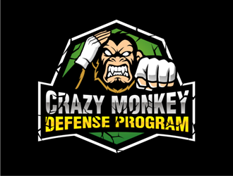 Crazy Monkey Defense Program logo design
