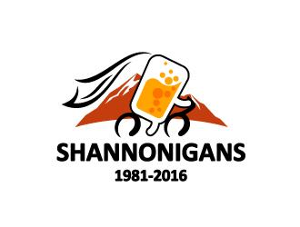 Shannonigans 1981-2016 logo design