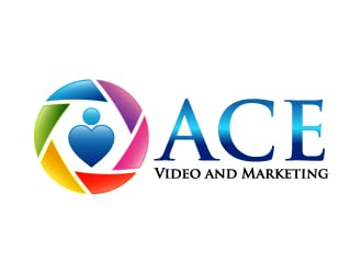 Ace Video and Marketing logo design