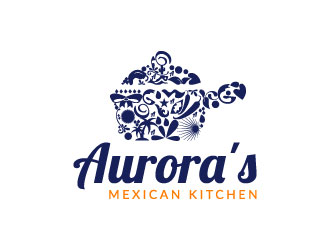 Aurora's Mexican Kitchen logo design