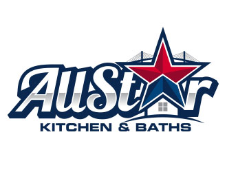 ALLSTAR KITCHEN & BATHS logo design