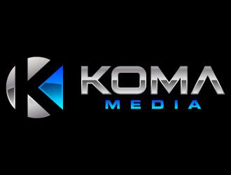 Koma Media logo design
