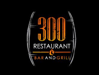 300 Restaurant Bar and Grill logo design