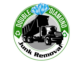 Double Diamond Junk Removal logo design