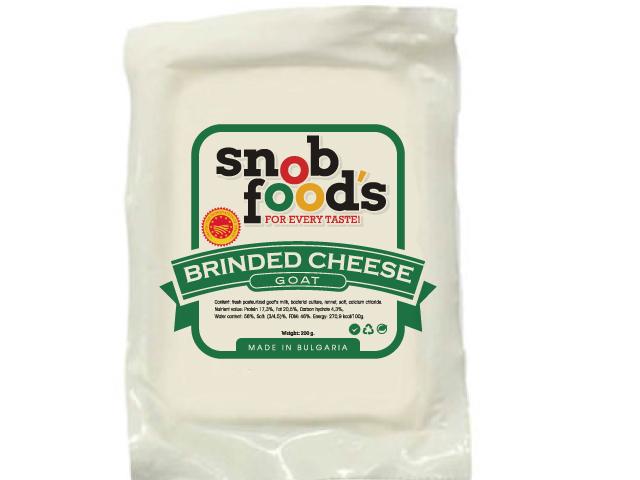 Snob Food's Bulgarian White cheese logo design