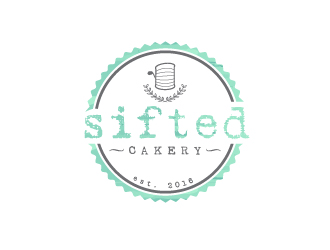 Sifted Cakery logo design