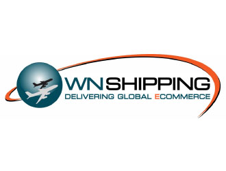 WN Shipping  Delivering Global eCommerce logo design