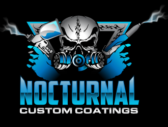 Image of: Design Nocturnal Custom Coatings Logo Winner 48hourslogo Nocturnal Custom Coatings Logo Design 48hourslogocom
