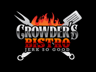 "Name - ""Crowder's Bistro""  Slogan ""Jerk So Good"" logo design"