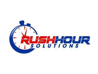 Rush  Hour Solutions logo design