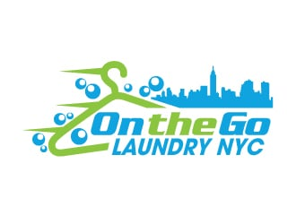 On the Go Laundry NYC logo design