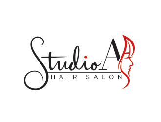 Studio A Hair Salon logo design
