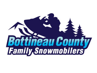Bottineau County Family Snowmobilers logo design