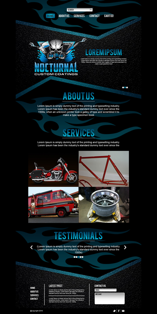Nocturnal Custom Coatings Website logo design