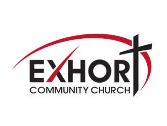 Exhort Community Church logo design