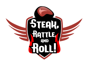 Steak, Rattle, and Roll! logo design
