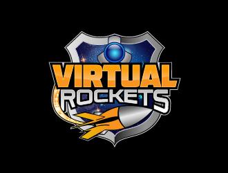 Virtual Rockets logo design