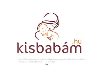 Kisbabám.hu logo design