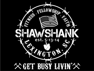 SHAWSHANK - Lexington, SC - est. 5-13-14 - Fitness, Fellowship, Faith logo design