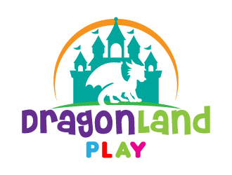 DragonLand Play logo design