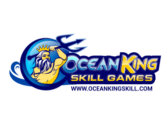 OCEAN KING SKILL GAMES logo design