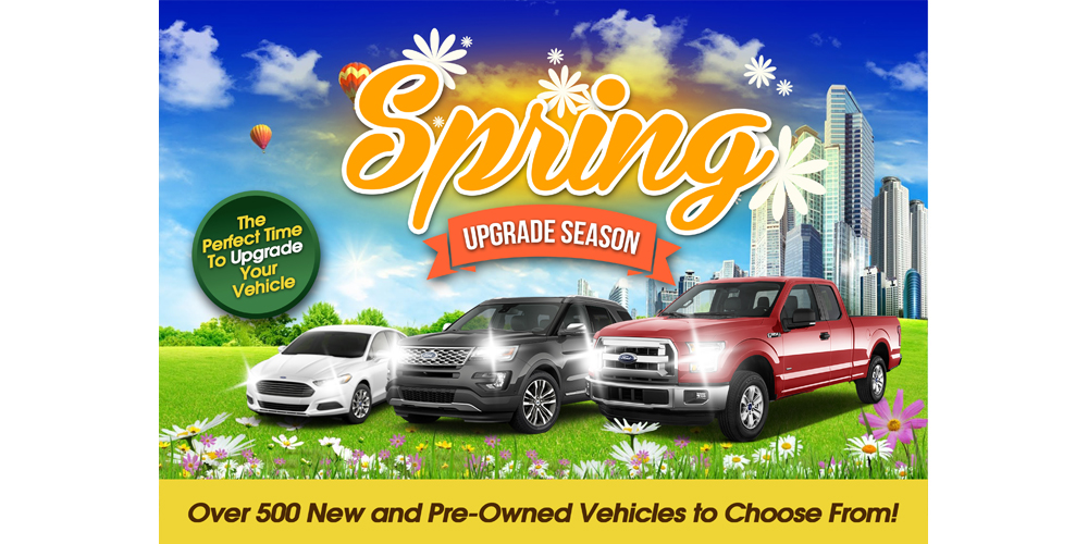 Spring Upgrade Season logo design