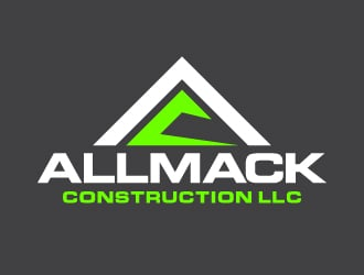 ALLMACK CONSTRUCTION LLC logo design