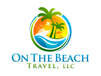 On The Beach Travel logo design