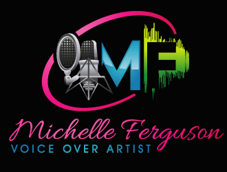 Michelle Ferguson   Voice Over Artist logo design