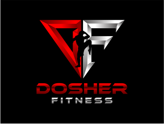 Dosher Fitness logo design