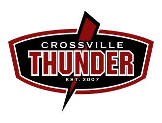 Crossville Thunder logo design