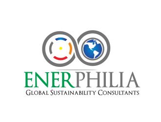 ENERPHILIA Global Sustainability Consultants logo design