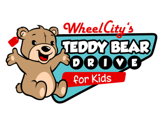 Wheel City's TEDDY BEAR DRIVE for Kids logo design